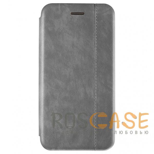 Фото Серый Open Color 2   Чехол-книжка на магните для Xiaomi Redmi Note 8 с подставкой и внутренним карманом