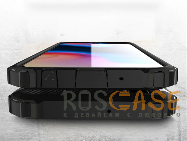Изображение Серый / Metal slate Immortal | Противоударный чехол для Samsung A405F Galaxy A40