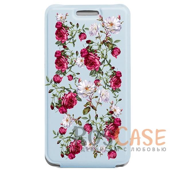 Универсальный женский флип-чехол с розами Gresso Romantic для смартфона 4.5-4.8 дюйма (Голубой)Описание:бренд -&amp;nbsp;Gresso;совместимость -&amp;nbsp;смартфоны с диагональю&amp;nbsp;4.5-4.8&amp;nbsp;дюйма;материал - искусственная кожа;тип - чехол-флип;цветочный рисунок;предусмотрены все вырезы;магнитная застежка;ВНИМАНИЕ: убедитесь, что ваша модель устройства находится в пределах максимального размера чехла. Размеры чехла: 14*7,5 см.<br><br>Тип: Чехол<br>Бренд: Gresso<br>Материал: Искусственная кожа