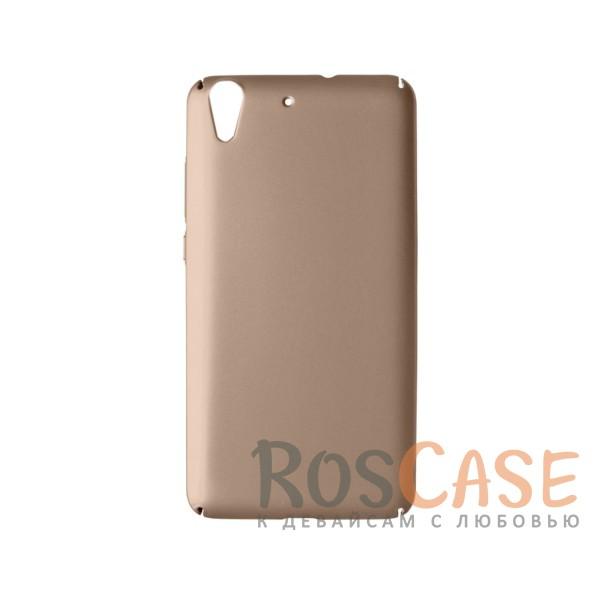 Пластиковая накладка soft-touch с защитой торцов Joyroom для Huawei Y6 II (Золотой)<br><br>Тип: Чехол<br>Бренд: Epik<br>Материал: Пластик