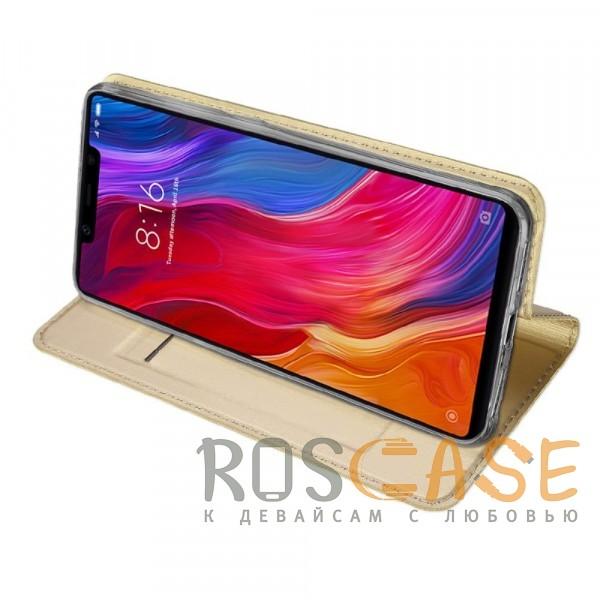 Фотография Золотой Dux Ducis   Чехол-книжка для Xiaomi Mi 8 SE с функцией подставки и картхолдером