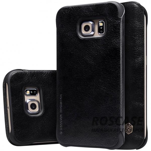Кожаный чехол (книжка) Nillkin Qin Series для Samsung G925F Galaxy S6 Edge (Черный)Описание:производитель:&amp;nbsp;Nillkin;совместим с Samsung G925F Galaxy S6 Edge;материал: натуральная кожа;тип: чехол-книжка.&amp;nbsp;Особенности:слот для визиток;ультратонкий;фактурная поверхность;внутренняя отделка микрофиброй.<br><br>Тип: Чехол<br>Бренд: Nillkin<br>Материал: Натуральная кожа