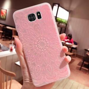 Силиконовый матовый чехол с принтом  для Samsung Galaxy S7 (G930F)