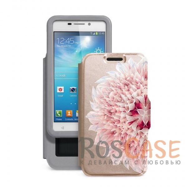 Универсальный женский чехол-книжка с принтом цветка Калейдоскоп Георгин для смартфона с диагональю 4,2-4,5 дюймаОписание:совместимость -&amp;nbsp;смартфоны с диагональю 4,2-4,5 дюйма;материал - искусственная кожа;тип - чехол-книжка;предусмотрены все необходимые вырезы;защищает девайс со всех сторон;цветочный рисунок;ВНИМАНИЕ: убедитесь, что ваша модель устройства находится в пределах максимального размера чехла.&amp;nbsp;Размеры чехла: 127*67 мм.<br><br>Тип: Чехол<br>Бренд: Gresso<br>Материал: Искусственная кожа