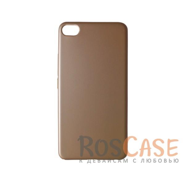 Пластиковая накладка soft-touch с защитой торцов Joyroom для Meizu U20 (Золотой)<br><br>Тип: Чехол<br>Бренд: Epik<br>Материал: Пластик