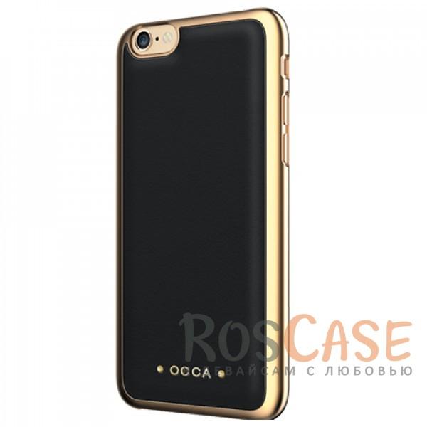 Накладка OCCA Absolute Collection со вставкой из натуральной коровьей кожи для Apple iPhone 6/6s+ (Черный)Описание:бренд -&amp;nbsp;OCCA;материал - натуральная кожа, пластик;совместимость - Apple iPhone 6/6s plus (5.5);тип - накладка.<br><br>Тип: Чехол<br>Бренд: OCCA<br>Материал: Натуральная кожа