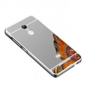 Металлический бампер для Xiaomi Redmi 5 с зеркальной вставкой