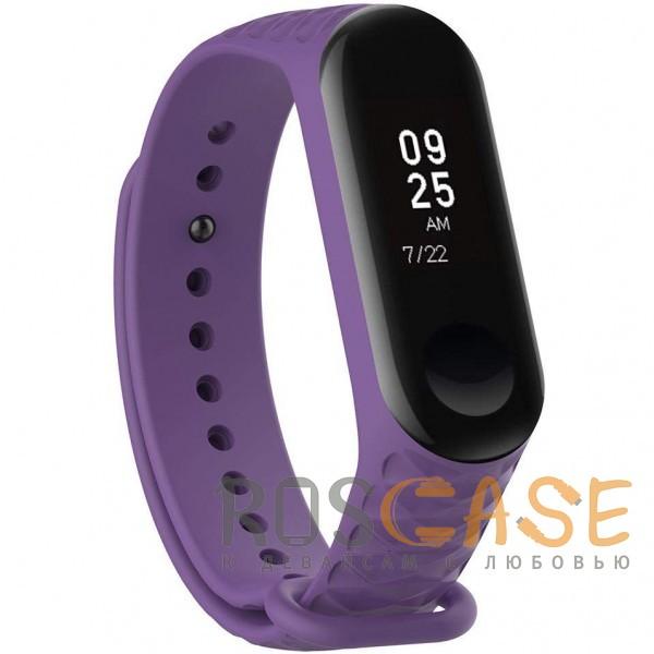 Фото Фиолетовый Xiaomi Mi Band 3 | Цветной фактурный ремешок для фитнес-браслета