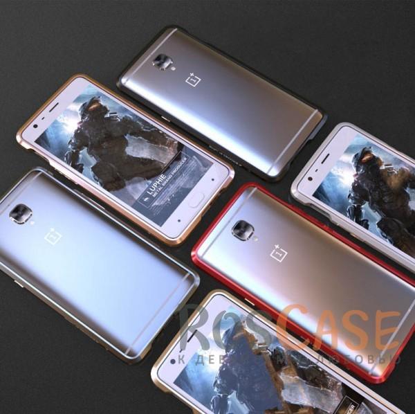 Алюминиевый бампер Luphie Blade Sword для OnePlus 3 / OnePlus 3T ( one color)Описание:бренд -&amp;nbsp;Luphie;материал - алюминий;разработан для OnePlus 3 / OnePlus 3T;тип - бампер.Особенности:прочный алюминий;в наличии все вырезы;ультратонкий дизайн;защита граней от ударов и царапин;ответка для установки в комлекте.<br><br>Тип: Чехол<br>Бренд: Luphie<br>Материал: Металл