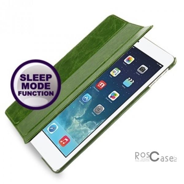 Кожаный чехол (книжка) TETDED Lava Series для Apple IPAD AIR (Зеленый / Olive green)Описание:бренд:&amp;nbsp;TETDED;совместим с Apple IPAD AIR;материал: натуральная кожа;форма: книжка.&amp;nbsp;Особенности:фактурная поверхность;выполнен вручную;эргономичные свойства - подставка;полный набор функциональных прорезей;тонкое исполнение;функция Sleep mode;амортизация силы удара.<br><br>Тип: Чехол<br>Бренд: TETDED<br>Материал: Натуральная кожа