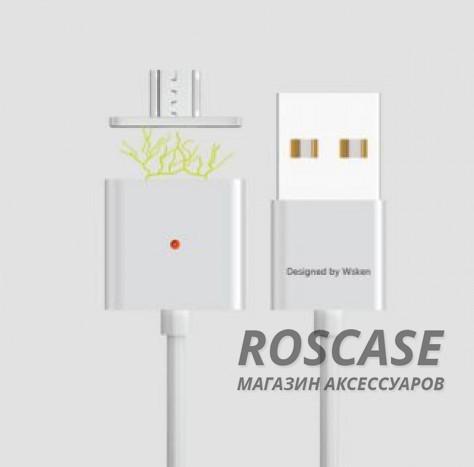 Магнитный кабель WSKEN X-cable Double Metal Series MicroUSB (Серебряный / Silver)Описание:совместимость: устройства с разъемом microUSB;материалы: PVC, TPE;производитель: Wsken;тип: дата-кабель.&amp;nbsp;Особенности:разъемы: microUSB, USB;магнитный коннектор;для устройств с разъемом microUSB;высокая скорость передачи данных;ток  -  2,4A;прочный;длина  -  1 метр.<br><br>Тип: USB кабель/адаптер<br>Бренд: Epik