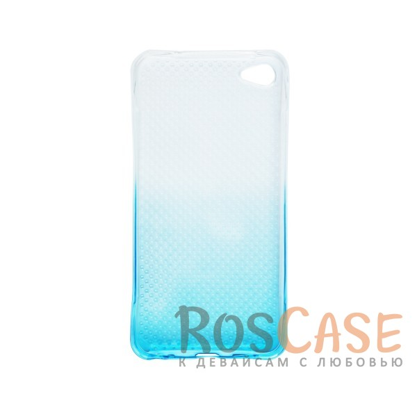 Фотография Голубой Гибкий чехол для Meizu U20 из прозрачного силикона с градиентным цветным напылением