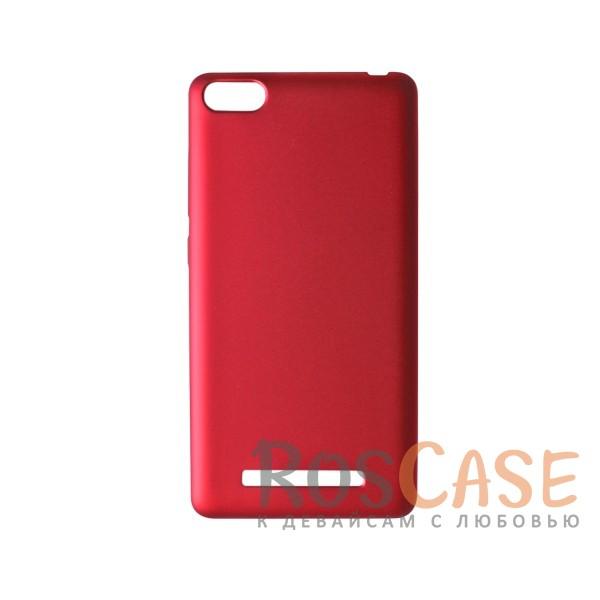Пластиковая накладка soft-touch с защитой торцов Joyroom для Xiaomi Mi 4i / Mi 4c (Красный)<br><br>Тип: Чехол<br>Бренд: Epik<br>Материал: Пластик