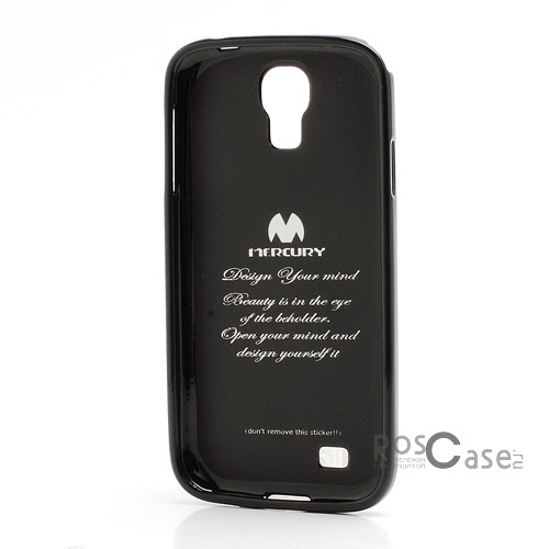 фото Черный TPU чехол Mercury Jelly Color series для Samsung i9500 Galaxy S4