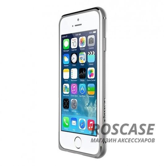 Металлический бампер Nillkin Gothic Series для Apple iPhone 6/6s (4.7) (Серебряный)Описание:производитель  -  бренд Nillkin;совместимость: Apple iPhone 6/6s (4.7);материал  -  металл;форма  -  бампер.&amp;nbsp;Особенности:легкий и прочный;имеет все функциональные вырезы;обладает хорошей амортизацией;не увеличивает габариты;стильныйгладкий.<br><br>Тип: Бампер<br>Бренд: Nillkin