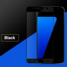 """Защитное стекло с цветной рамкой на весь экран с олеофобным покрытием """"анти-отпечатки""""  для Samsung Galaxy S7 (G930F)"""