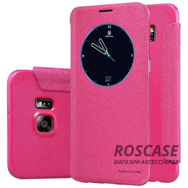 Кожаный чехол (книжка) Nillkin Sparkle Series для Samsung Galaxy S6 Edge Plus (Розовый)Описание:бренд -&amp;nbsp;Nillkin;совместим с Samsung Galaxy S6 Edge Plus;материал - кожзам;тип: книжка.&amp;nbsp;Особенности:функция Sleep mode;окошко в обложке;блестящая поверхность;защита со всех сторон.<br><br>Тип: Чехол<br>Бренд: Nillkin<br>Материал: Искусственная кожа