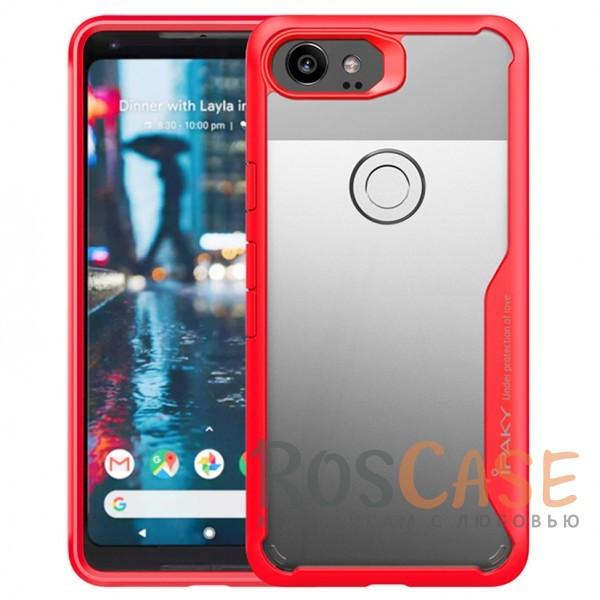 Фото Красный iPaky Luckcool | Чехол для Google Pixel 2 XL с цветными силиконовыми вставками