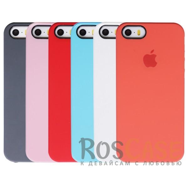 Фото Оригинальный силиконовый чехол для Apple iPhone 5/5S/SE (реплика)