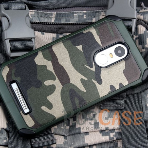 TPU чехол Military для Xiaomi Redmi Note 3 / Redmi Note 3 Pro (Камуфляж Зеленый)Описание:разработан специально для Xiaomi Redmi Note 3 / Redmi Note 3 Pro;комуфляжная расцветка;материал - TPU;тип - накладка.<br><br>Тип: Чехол<br>Бренд: Epik<br>Материал: TPU