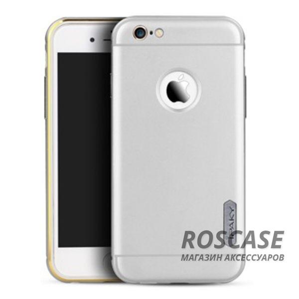 Чехол iPaky Metal Frame Series для Apple iPhone 6/6s (4.7) (Серебряный)Описание:производитель: iPaky;совместимость: смартфон Apple iPhone 6/6s (4.7);материал изделия: металл, поликарбонат;форм-фактор: накладка.Особенности:система надежной фиксации;сохраняет первоначальный вид;не деформируется;имеет все функциональные вырезы;очищается легко.<br><br>Тип: Чехол<br>Бренд: Epik<br>Материал: Пластик