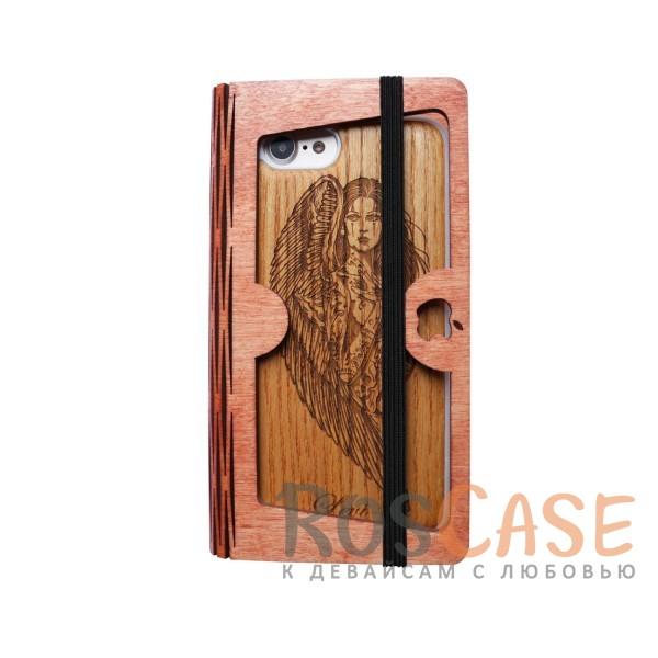 Накладка Buddy с деревянной вставкой ручной работы для Apple iPhone 7 (4.7) (Ангел)<br><br>Тип: Чехол<br>Бренд: Epik<br>Материал: Пластик