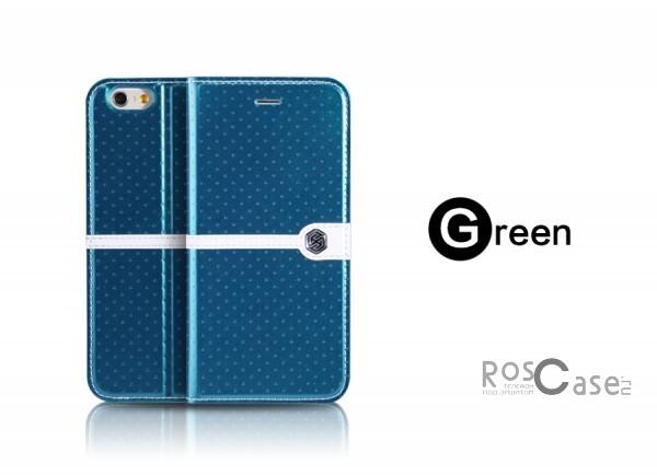 Кожаный чехол (книжка) Nillkin Ice Series для Apple iPhone 6/6s (4.7) (+ пленка) (Бирюзовый)Описание:разработка и производство компании&amp;nbsp;Nillkin;совместим с Apple iPhone 6/6s (4.7);изготовлен из искусственной кожи и полиуретана;гладкая поверхность;тип конструкции  -  чехол-книжка;&amp;nbsp;Особенности:внутренняя часть отделана микрофиброй;ультратонкий;пленка в комплекте;транформируется в подставку;насыщенная цветовая палитра;повышенная износоустойчивость.<br><br>Тип: Чехол<br>Бренд: Nillkin<br>Материал: Искусственная кожа
