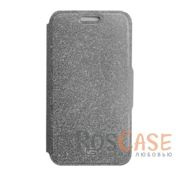 Стильный блестящий защитный чехол-книжка Gresso для смартфона с диагональю 5.5-6.0 дюймов (Серебряный)Описание:бренд -&amp;nbsp;Gresso;совместимость -&amp;nbsp;смартфоны с диагональю&amp;nbsp;5.5-6.0 дюймов;материал - искусственная кожа;тип - чехол-книжка;блестящая поверхность;силиконовый шелл-крепление;магнитная застежка;защита со всех сторон;ВНИМАНИЕ: убедитесь, что ваша модель устройства находится в пределах максимального размера чехла. Размеры чехла:&amp;nbsp;15,2х8,2 см.<br><br>Тип: Чехол<br>Бренд: Gresso<br>Материал: Натуральная кожа