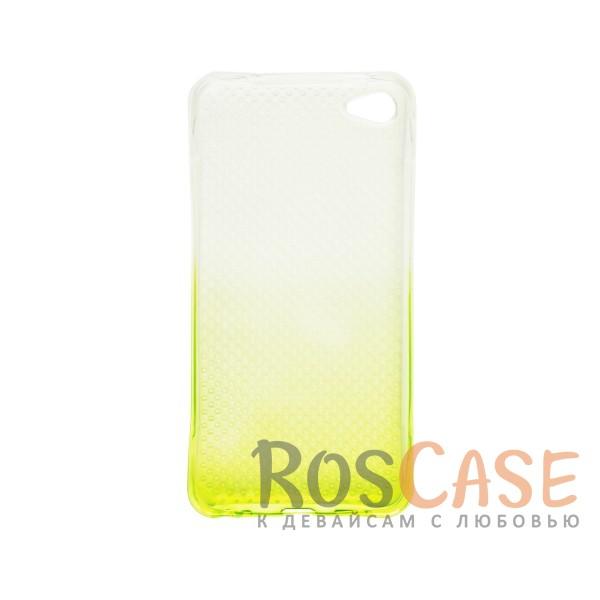 Фотография Желтый Гибкий чехол для Meizu U20 из прозрачного силикона с градиентным цветным напылением