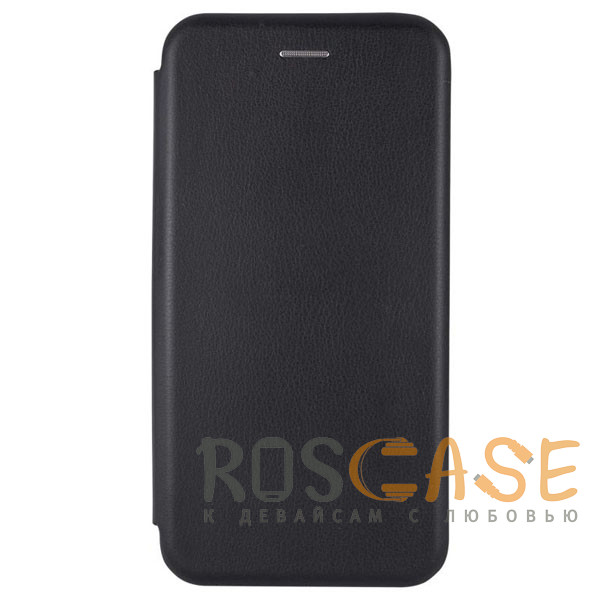 Фотография Черный Open Color | Кожаный чехол-книжка для iPhone 11 Pro Max с функцией подставки и магнитом