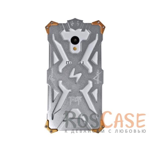 Противоударный чехол из авиационного алюминия на винтах Thor для Meizu M3 / M3 mini / M3s (Серебряный)<br><br>Тип: Чехол<br>Бренд: Epik<br>Материал: Металл
