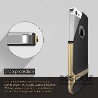 фотография Черный / Champagne Gold TPU+PC чехол Rock Royce Cross Series для Apple iPhone 5/5S/SE
