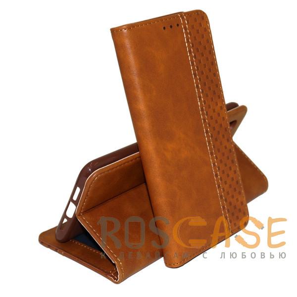 Фото Коричневый Business Wallet   Кожаный чехол книжка с визитницей для Samsung Galaxy S21 Plus
