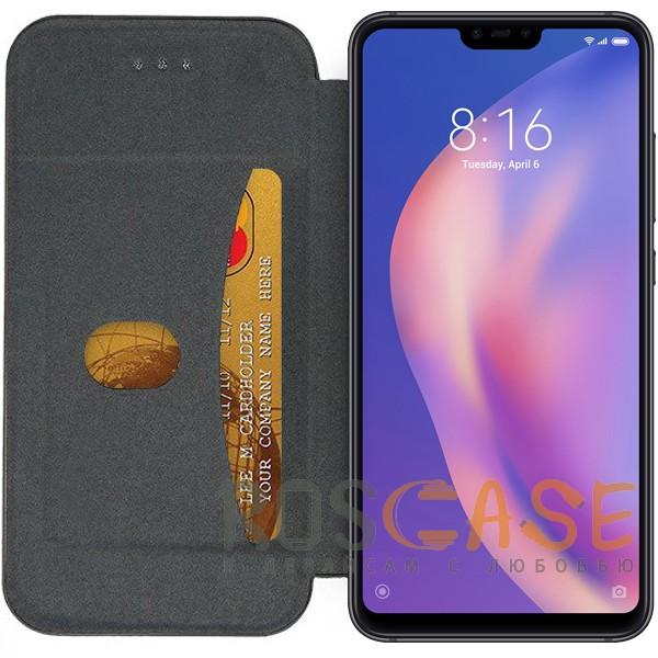 Фотография Черный Open Color 2 | Чехол-книжка на магните для Xiaomi Mi 8 Lite / Mi 8 Youth (Mi 8X) с подставкой и внутренним карманом