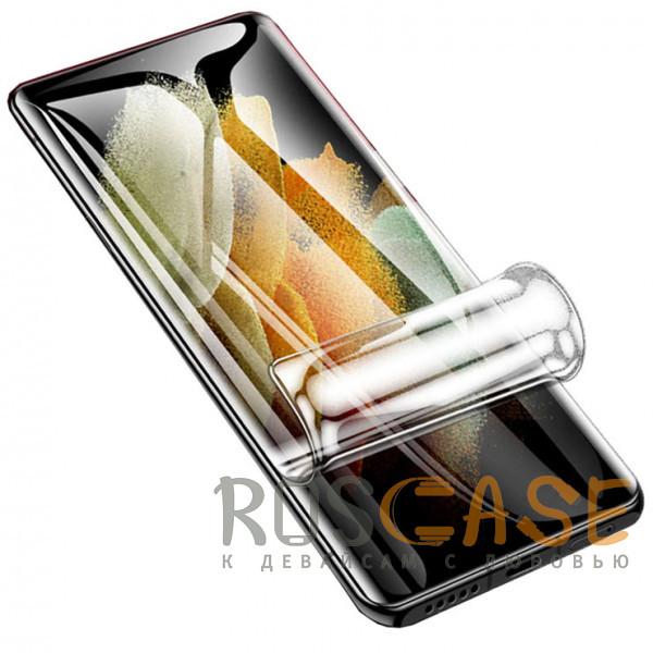 Фото Прозрачная Гидрогелевая защитная плёнка Rock для Samsung Galaxy S21 Ultra