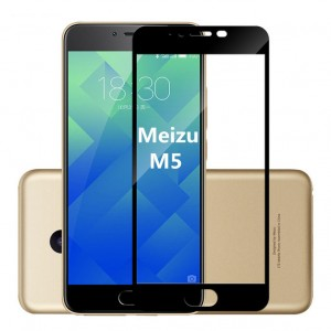 Защитное стекло 3D для Meizu M5 на весь экран
