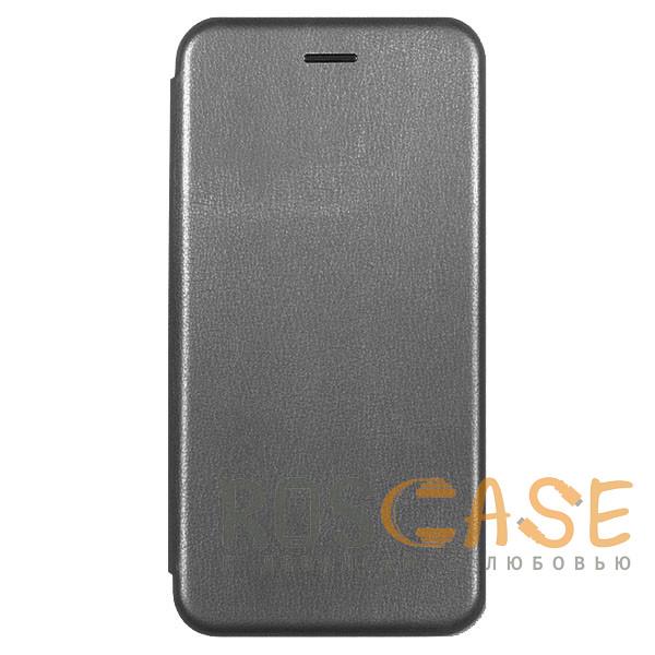 Фотография Серый Open Color | Кожаный чехол-книжка для Xiaomi Redmi 8 с функцией подставки и магнитом
