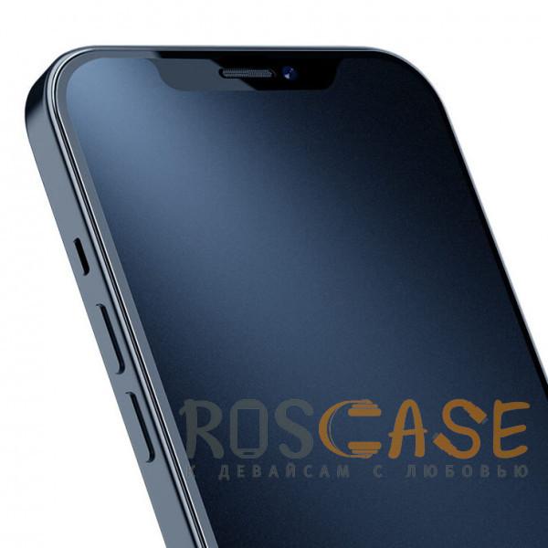 Изображение Черное Nillkin FogMirror | Защитное матовое закаленное стекло для iPhone 12 Pro Max