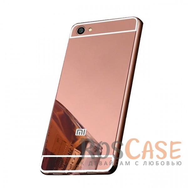 Защитный металлический бампер с зеркальной вставкой для Xiaomi Redmi Note 5A / Y1 Lite (Розовый)Описание:разработан для Xiaomi Redmi Note 5A / Y1 Lite;материалы - металл, акрил;тип - бампер с задней панелью;зеркальная поверхность;металлический бампер;защита от царапин и ударов.<br><br>Тип: Чехол<br>Бренд: Epik<br>Материал: Металл