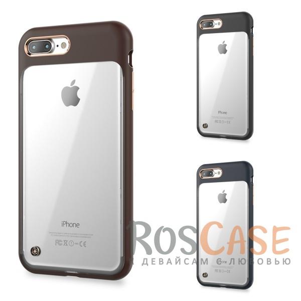 TPU+PC чехол STIL Monokini Series для Apple iPhone 7 plus (5.5)Описание:создан компанией&amp;nbsp;STIL;разработан с учетом особенностей&amp;nbsp;Apple iPhone 7 plus (5.5);материалы - термополиуретан, поликарбонат;тип - накладка.Особенности:сочетание прозрачного и матового материалов;золотистая окантовка вокруг камеры и кнопок;доступ ко всем функциям гаджета благодаря точным вырезам;защита от царапин и ударов;защита экрана благодаря выступающим бортикам;размеры - 165*84*10 мм, 46&amp;nbsp;гр.<br><br>Тип: Чехол<br>Бренд: Stil<br>Материал: Поликарбонат