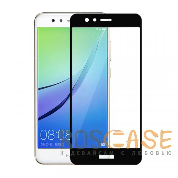 Фото Черный Защитное стекло 5D Full Cover для Huawei P9 Lite