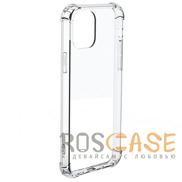 Фото Прозрачный Противоударный силиконовый чехол для iPhone 12 Pro Max с усиленными углами