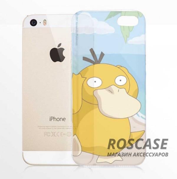 """Фото Psyduck Силиконовый чехол """"Funny Pokemons"""" для Apple iPhone 5/5S/SE"""