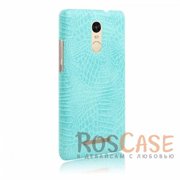 Кожаный чехол с узором из крокодиловой кожи Croc Series для Xiaomi Redmi Note 3 / Redmi Note 3 Pro (Бирюзовый)<br><br>Тип: Чехол<br>Бренд: Epik<br>Материал: Искусственная кожа