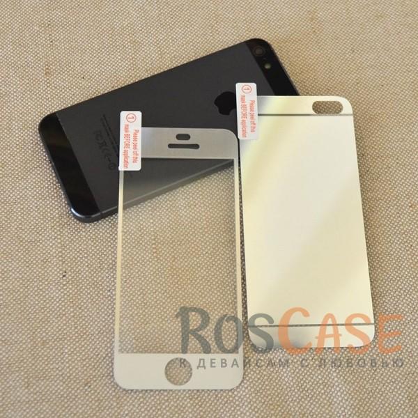 фото защитное цветное стекло Tempered Glass (На обе стороны) для Apple iPhone 5/5S/5SE
