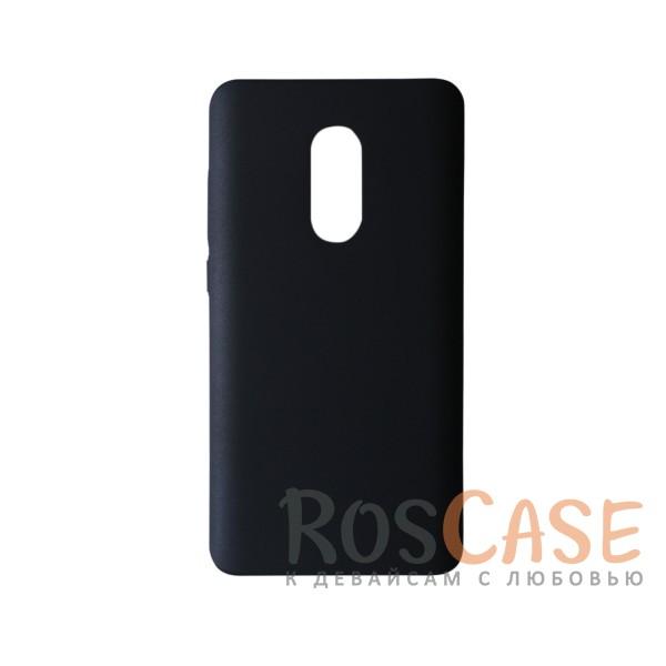 Пластиковая накладка soft-touch с защитой торцов Joyroom для Xiaomi Redmi Note 4 (Черный)<br><br>Тип: Чехол<br>Бренд: Epik<br>Материал: Пластик