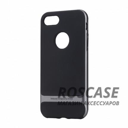 TPU+PC чехол Rock Royce Series для Apple iPhone 7 (4.7) (Черный / Серый)Описание:производитель  - &amp;nbsp;Rock;совместимость - Apple iPhone 7 (4.7);материалы  -  термополиуретан, поликарбонат;тип  -  накладка.&amp;nbsp;Особенности:амортизирует удары;имеет все необходимые вырезы;оригинальный дизайн;не увеличивает габариты;защищает от царапин и потертостей;износостойкий.<br><br>Тип: Чехол<br>Бренд: ROCK<br>Материал: TPU