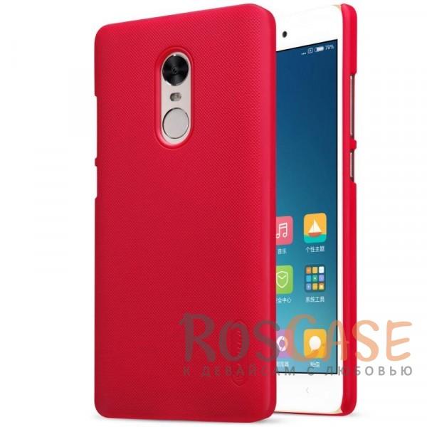 Матовый чехол для Xiaomi Redmi Note 4X / Redmi Note 4 (+ пленка) (Красный)Описание:бренд&amp;nbsp;Nillkin;совместим с Xiaomi Redmi Note 4X /&amp;nbsp;Redmi Note 4;материал: поликарбонат;рельефная фактура;тип: накладка;в наличии все функциональные вырезы;закрывает заднюю панель и боковые грани;не скользит в руках;защищает от ударов и царапин.<br><br>Тип: Чехол<br>Бренд: Nillkin<br>Материал: Поликарбонат
