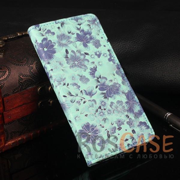 Чехол-кошелёк с цветочным рисунком и функцией подставки для Xiaomi Redmi Note 4 (MTK) (Синий)<br><br>Тип: Чехол<br>Бренд: Epik<br>Материал: Искусственная кожа