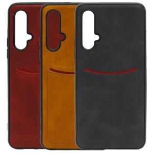 ILEVEL | Чехол с кожаным покрытием и карманом для Huawei Honor 20 / Nova 5T